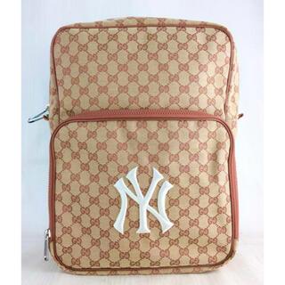 Gucci - ✨販売証明書あり✨GUCCI NYヤンキース GGキャンバス バックパック