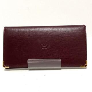 カルティエ(Cartier)のカルティエ 長財布 マストライン ボルドー(財布)