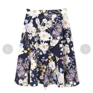 PROPORTION BODY DRESSING - プロポーションボディドレッシング 美人百花掲載 フラワースカート サイズ 2 紺