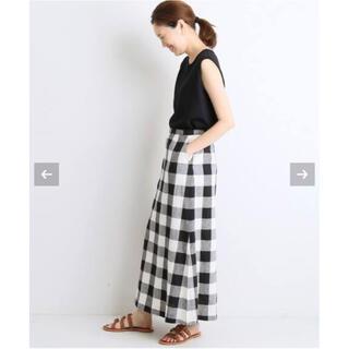 IENA SLOBE - SLOBE IENA ギンガムチェックサイドスリットスカート