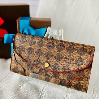 ルイヴィトン(LOUIS VUITTON)の【赤がキレイ】ルイヴィトン♥️ポルトフォイユカイサ♥️ダミエ♥️長財布♥️(財布)