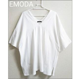 EMODA - 【未使用】EMODA ゆったり抜け感Tシャツ ホワイト