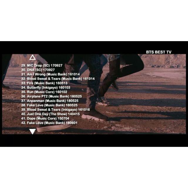 ★防弾少年団 BEST TV コレクション(全42曲)DVD エンタメ/ホビーのDVD/ブルーレイ(ミュージック)の商品写真