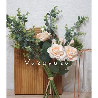 花束 造花 母の日 ブーケ  観葉植物 バラ ピンク(その他)
