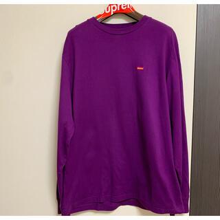 シュプリーム(Supreme)のsupreme SUPREME ロンT パープル スモールボックスロゴ M(Tシャツ/カットソー(七分/長袖))