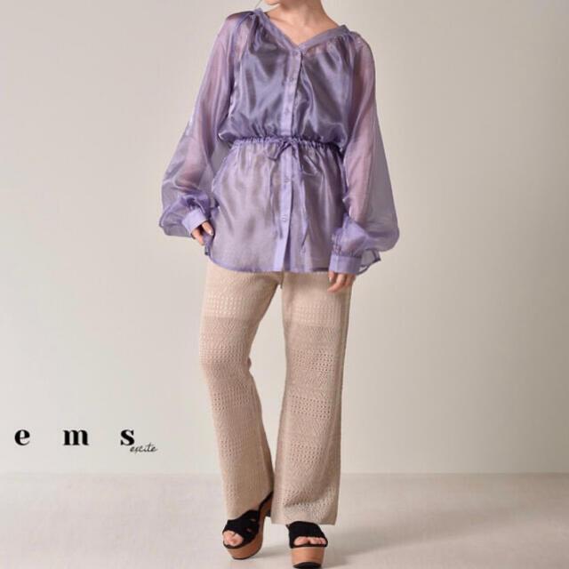 EMSEXCITE(エムズエキサイト)のシアードロストシャツ emsexcite レディースのトップス(シャツ/ブラウス(長袖/七分))の商品写真