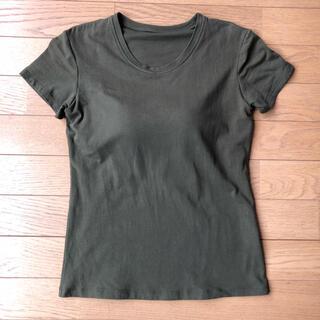 UNIQLO - 深緑色 UNIQLO ユニクロ ブラトップ Tシャツ Mサイズ