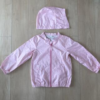 イオン(AEON)のウインドブレーカー 女の子 120 トップバリュ ピンク(ジャケット/上着)