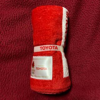 トヨタ - 新品未使用 オリンピック 聖火リレー トヨタ タオル&ラバーバンド