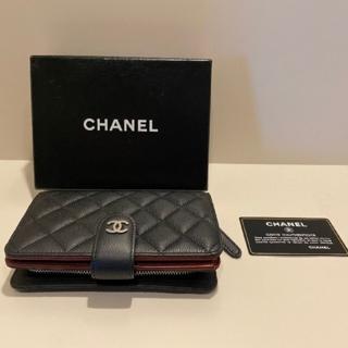 CHANEL - q  CHANEL 折り財布 キャビアスキン