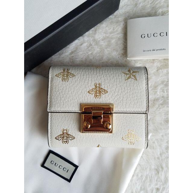 Gucci(グッチ)の入手困難 GUCCI グッチ Bee Padlock パドロック 3つ折り財布 レディースのファッション小物(財布)の商品写真