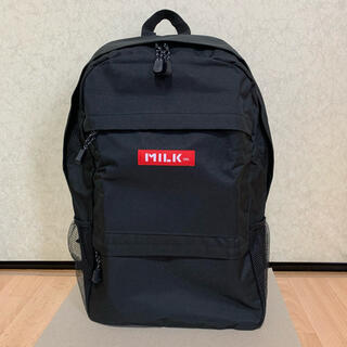 ミルクフェド(MILKFED.)の【新品】MILKFED. BIG Size BLACKロゴ 大容量バックパック(リュック/バックパック)