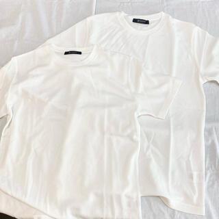 ナノユニバース(nano・universe)のnano universe Tシャツ2枚セット ホワイト Mサイズ メンズ(Tシャツ/カットソー(半袖/袖なし))