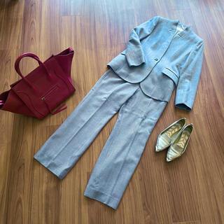 銀座マギー - 美品 銀座マギー ウール100% ペールブルー パンツ セットアップスーツ