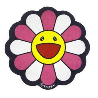 Flower Floor Mat Pink × White 村上隆フロアマット