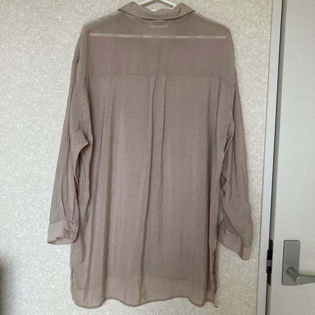 シアーシャツ Mサイズ レディースのトップス(シャツ/ブラウス(長袖/七分))の商品写真