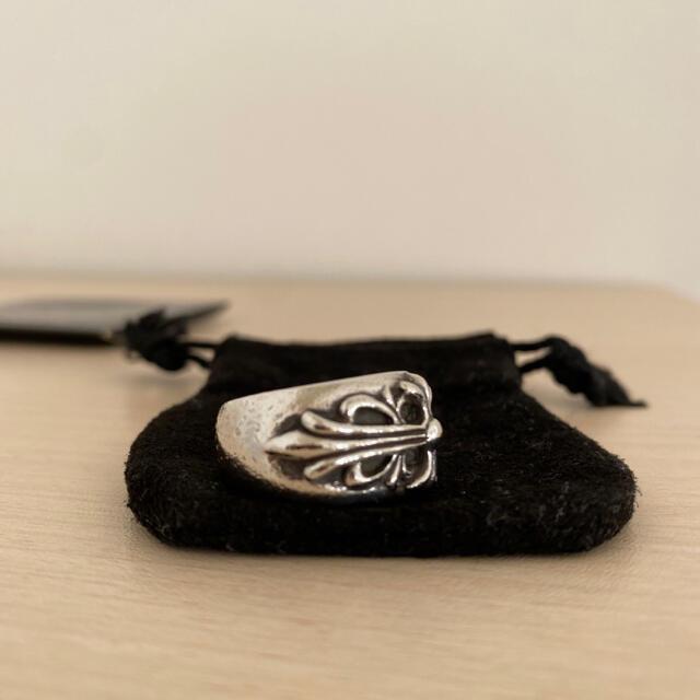 Chrome Hearts(クロムハーツ)のCHROMEHEARTS FLORAL CROSS RING メンズのアクセサリー(リング(指輪))の商品写真