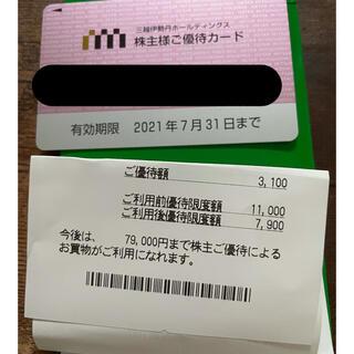 ミツコシ(三越)の三越伊勢丹 株式優待(ショッピング)