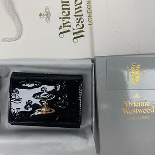 Vivienne Westwood - 新品‼️ ヴィヴィアンウエストウッドVivienneレザー3つ折り財布 ブラック