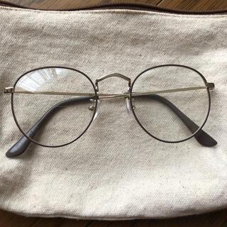 シマムラ(しまむら)のプチプラのあや ダテメガネ 中灰(サングラス/メガネ)