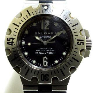 ブルガリ(BVLGARI)のBVLGARI(ブルガリ) 腕時計 SD42S メンズ 黒(その他)