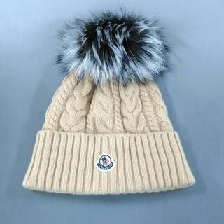 モンクレール(MONCLER)のモンクレール ニット帽美品  イエロー(ニット帽/ビーニー)