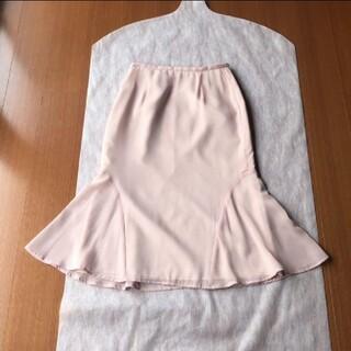 インタープラネット(INTERPLANET)の未使用品♡ インタープラネット 裾ヒラヒラ 華やか スカート 小さいサイズ(ひざ丈スカート)