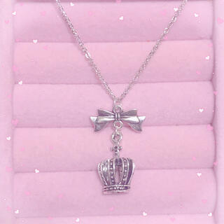 量産型 ネックレス 地雷 王冠 リボン(ネックレス)