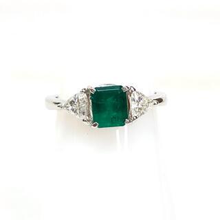 【期間限定】0.7ct天然エメラルド、0.4ctダイヤモンド付、Pt900 指輪(リング(指輪))