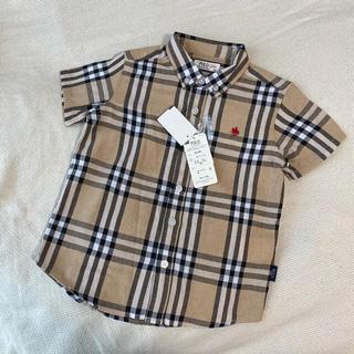 シマムラ(しまむら)のポロ 半袖 チェックシャツ サイズ100(その他)