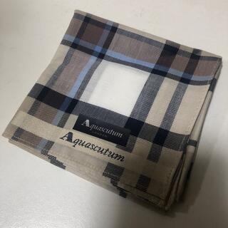 アクアスキュータム(AQUA SCUTUM)のアクアスキュータム ハンカチ 新品(ハンカチ/ポケットチーフ)