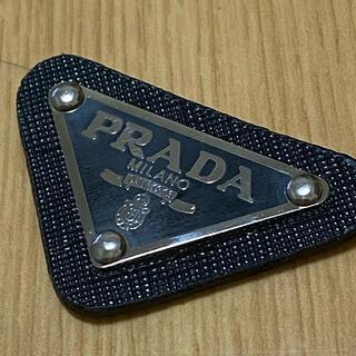 PRADA - 美品 プラダ メタルプレート 黒