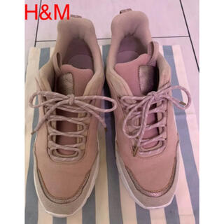 H&M - ★h&m ダッド スニーカー ピンク 39サイズ