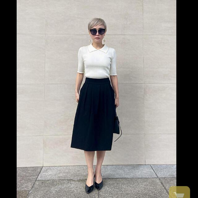 eimy istoire(エイミーイストワール)のジェンヌ パールトリムリブニットトップス レディースのトップス(カットソー(半袖/袖なし))の商品写真