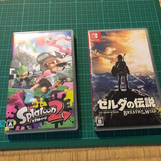 任天堂 - Switchソフト スプラトゥーン2,ゼルダの伝説セット