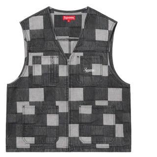 Supreme - XL Supreme Patched Denim Vest