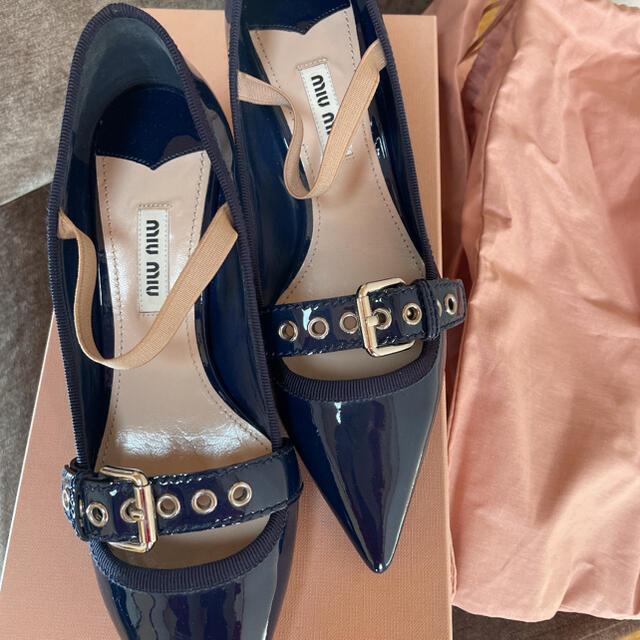 miumiu(ミュウミュウ)のMIUMIUパンプス PRADA、GUCCI、セルフォード、フォクシー、ロキト レディースの靴/シューズ(ハイヒール/パンプス)の商品写真