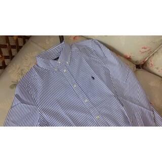 ラルフローレン(Ralph Lauren)の新品☆ラルフローレン 長袖シャツ 140 ストライプ(ブラウス)