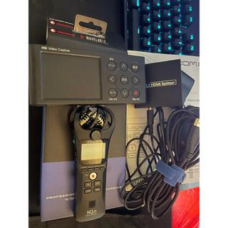 アイオーデータ(IODATA)のzoom h1n gv-hdrec 動画編集機材セット(PC周辺機器)