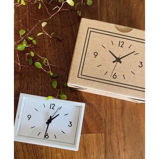 MUJI (無印良品) - 無印良品  駅の時計  ミニ  小さくて可愛い!マグネット付き  新品未使用