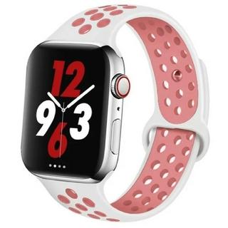 Apple Watch スポーツ バンド 38/40mm ホワイト/ピンク