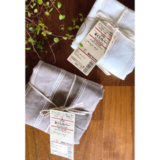 MUJI (無印良品) - 無印良品  リネン生地枕カバー  2枚セットで!新品未使用