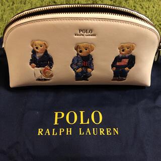 POLO RALPH LAUREN - 【POLO】ポロベア レザー コスメティック ポーチ