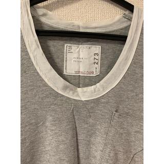 sacai - sacai  / サカイ Tシャツ グレー ポケット付 サイズ2