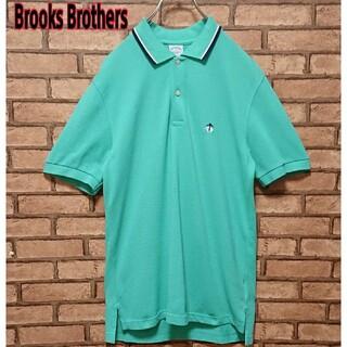 ブルックスブラザース(Brooks Brothers)のBrooks Brothers ワンポイント 刺繍 ロゴ 半袖 ポロシャツ(ポロシャツ)