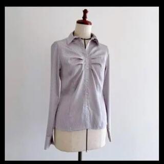 NARACAMICIE - ナラカミーチェ シルバーストライプシャツ ブラウス