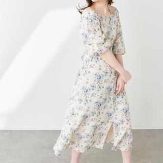 ナチュラルクチュール(natural couture)のバルーンスリーブガーリーワンピース(ロングワンピース/マキシワンピース)
