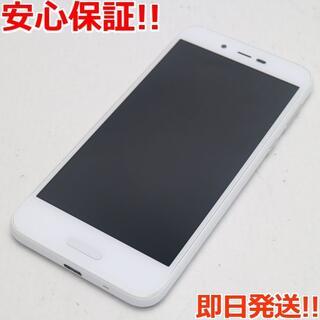 アクオス(AQUOS)の美品 SIMフリー SH-M05 ホワイト 本体 白ロム (スマートフォン本体)