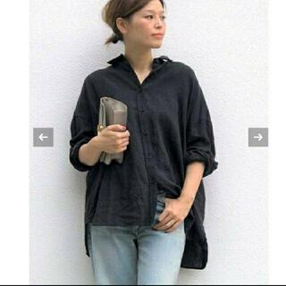 DEUXIEME CLASSE - ドゥーズィエム ワイドリネンシャツ ブラック美品