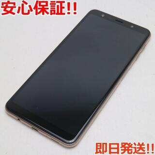 ギャラクシー(Galaxy)の美品 SIMフリー Galaxy A7 ゴールド (スマートフォン本体)